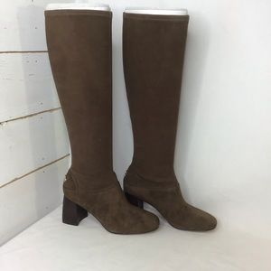 New Tory Burch Sidney 70mm Boot Stretch Suede